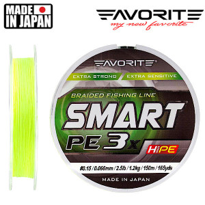 shnur-favorite-smart-pe-3x-150m-fluo-yellow